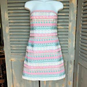 Lilly Pulitzer Strapless Ribbon Dress